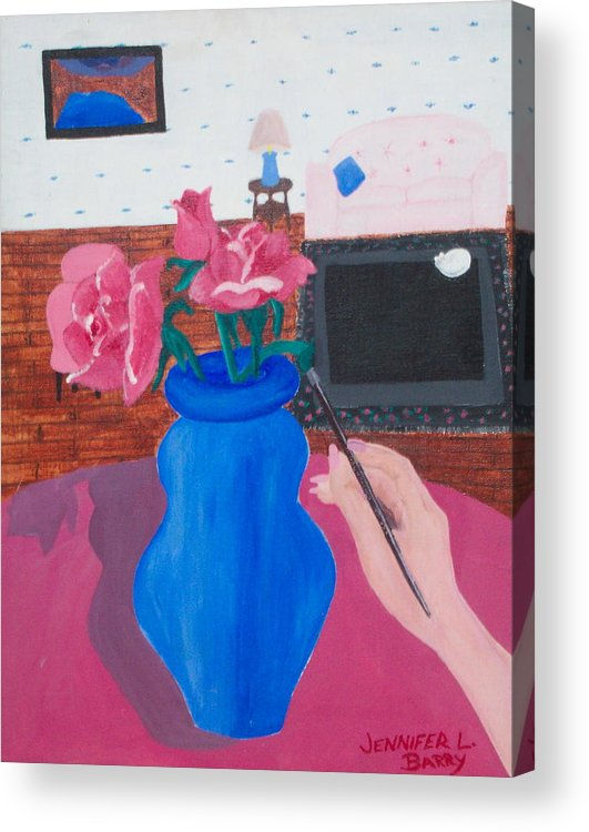 Vase Acrylic Print featuring the painting The Vase by Jennifer Hernandez