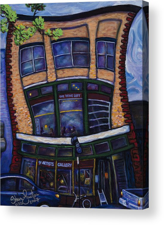 Landscape Acrylic Print featuring the painting The Wine Loft by Steve Lawton
