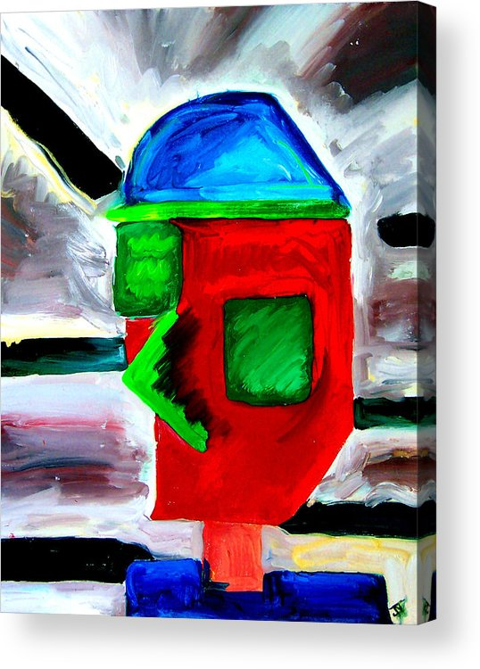 New Order Acrylic Print featuring the painting Third Millenium Man by John Toxey