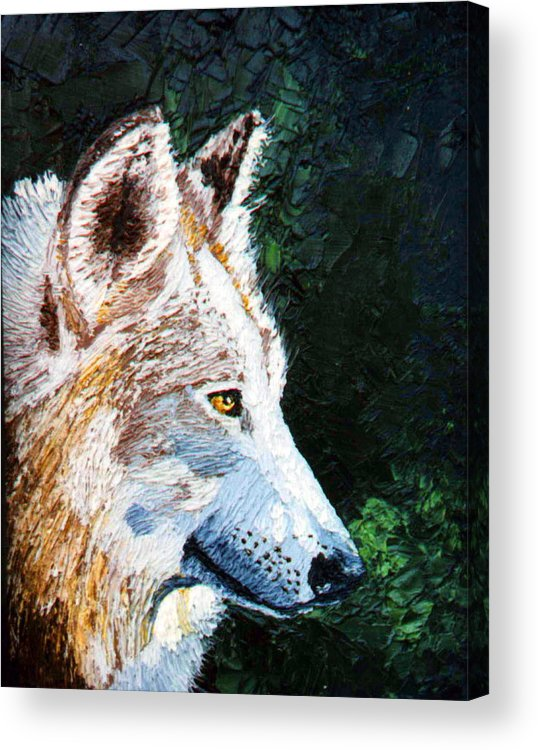 Timber Acrylic Print featuring the painting Timberwolf by Stan Hamilton