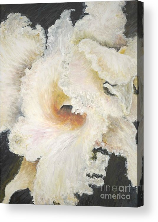 Flower Acrylic Print featuring the painting Tropical Flowers by Nadine Rippelmeyer