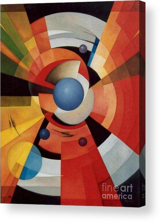 Abstract Acrylic Print featuring the painting Vertigo by Alberto DAssumpcao