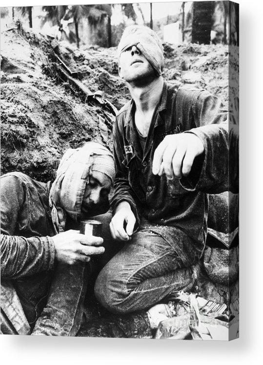 1966 Acrylic Print featuring the photograph Vietnam War Medic 1966 by Granger