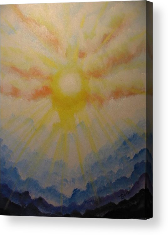 Waves Acrylic Print featuring the painting Waves Of Glory by Laurie Kidd