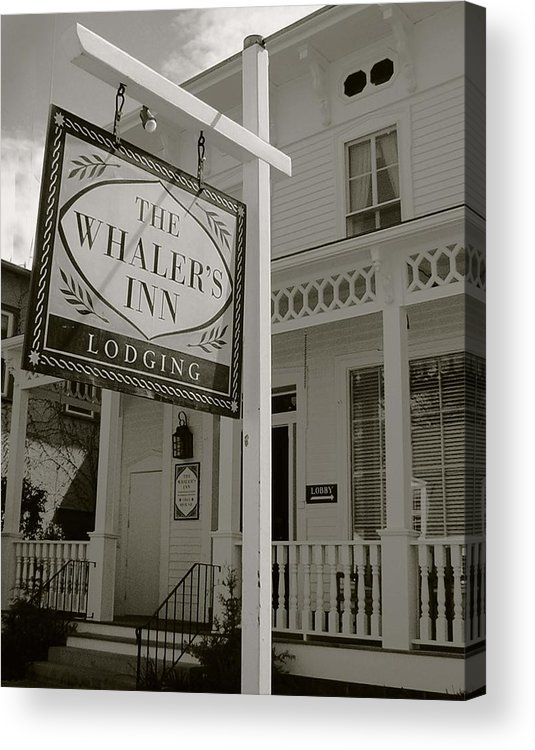 Mystic Acrylic Print featuring the photograph Whaler's Inn by Heather Weikel