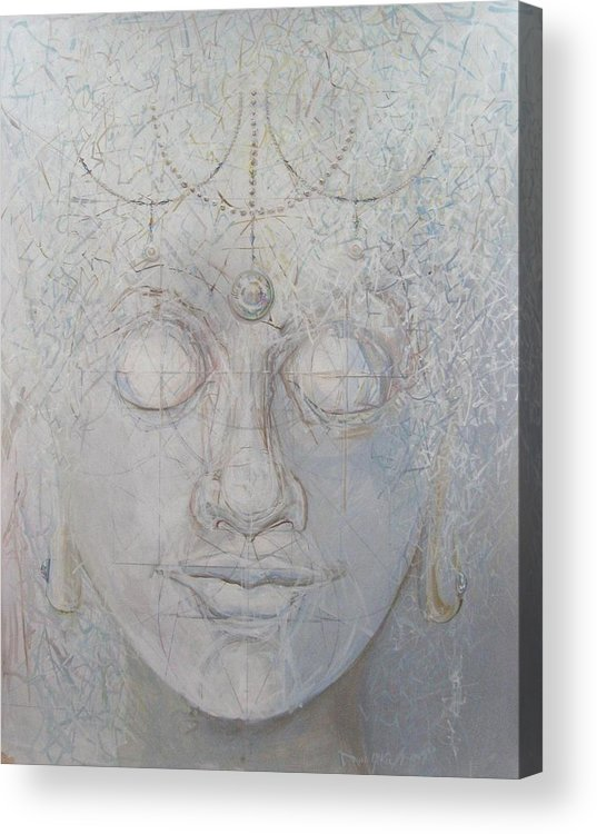 Buddha Acrylic Print featuring the print White Tara by David McKee