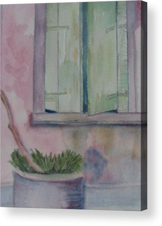 New Orleans Art Acrylic Print featuring the painting Who Is Looking Out by Marian Hebert