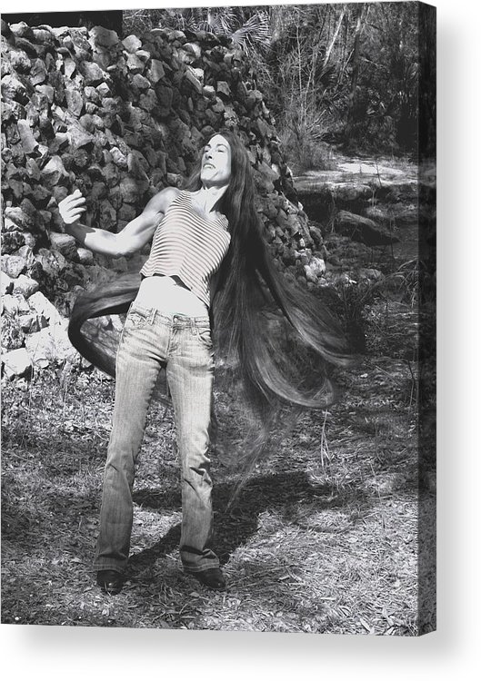 Hair Acrylic Print featuring the photograph Wild Hair by Debbie May