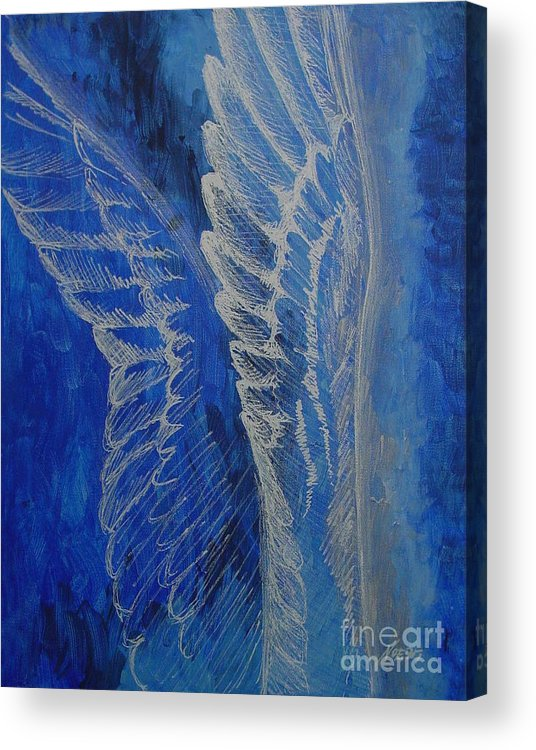 Acrylic Acrylic Print featuring the painting Wings Of Angel by Jindra Noewi