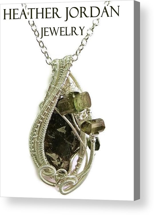 Wire wrapped seymchan pallasite meteorite pendant in sterling silver heather jordan acrylic print featuring the jewelry wire wrapped seymchan pallasite meteorite pendant in sterling aloadofball Images