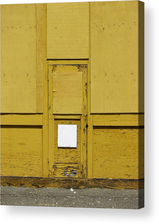 Door Acrylic Print featuring the photograph Yellow Door With Accent by Ben Freeman