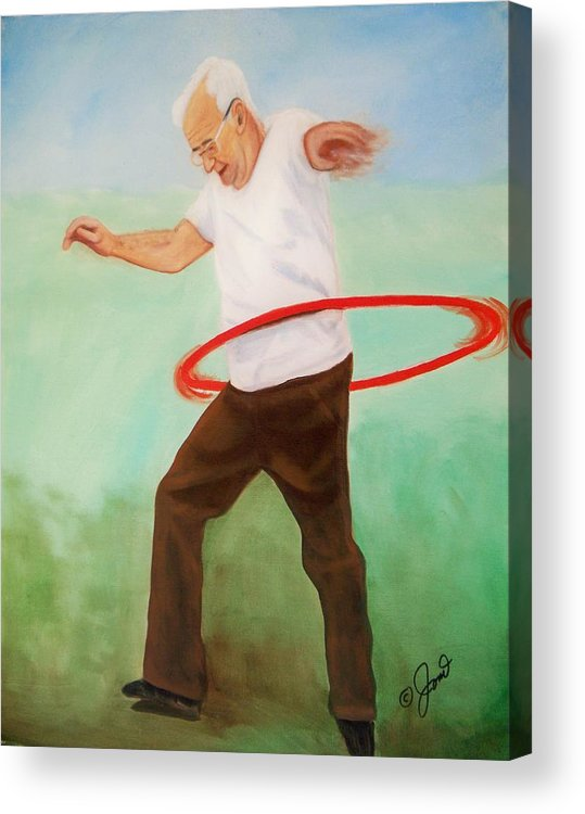 Portrait Acrylic Print featuring the painting Young At Heart by Joni McPherson