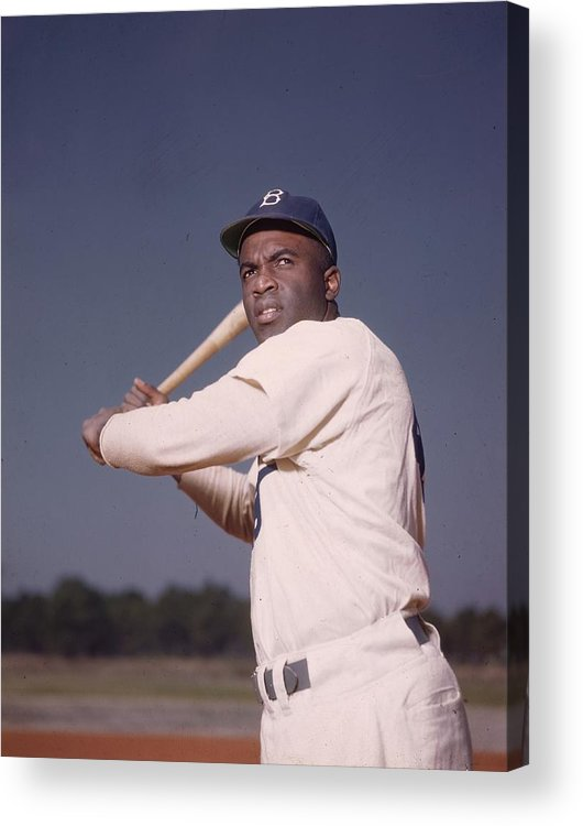 People Acrylic Print featuring the photograph Jackie Robinson 1 by Hulton Archive