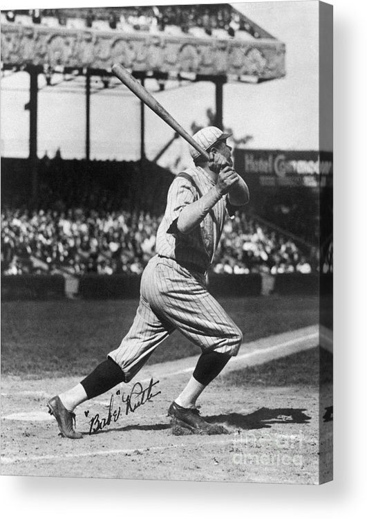 Following Acrylic Print featuring the photograph National Baseball Hall Of Fame Library 197 by National Baseball Hall Of Fame Library