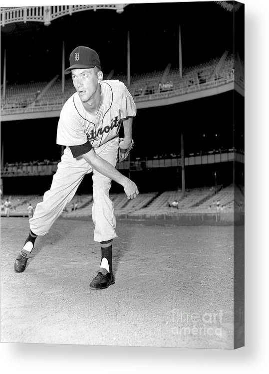 People Acrylic Print featuring the photograph Detroit Tigers V New York Yankees 2 by Kidwiler Collection
