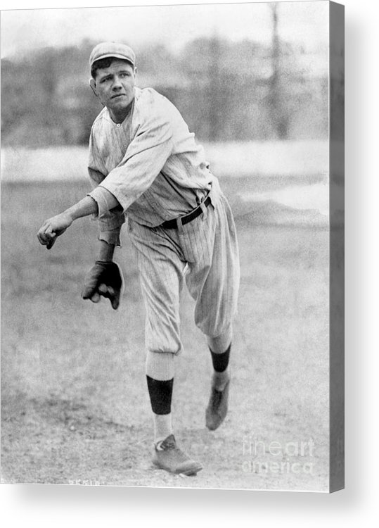 People Acrylic Print featuring the photograph National Baseball Hall Of Fame Library 51 by National Baseball Hall Of Fame Library