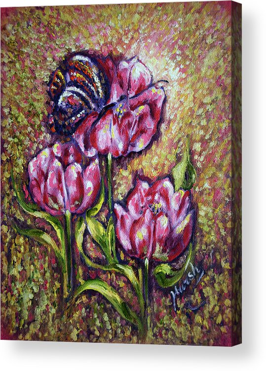 Blossom Acrylic Print featuring the painting Blossom by Harsh Malik