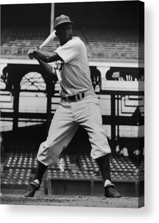 People Acrylic Print featuring the photograph Jackie Robinson by Archive Photos