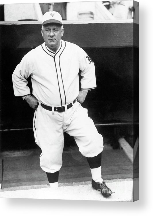 Professional Sport Acrylic Print featuring the photograph John Little Napoleon Mcgraw by National Baseball Hall Of Fame Library