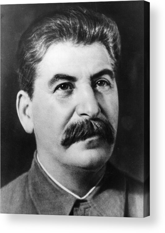 People Acrylic Print featuring the photograph Joseph Stalin by Fox Photos