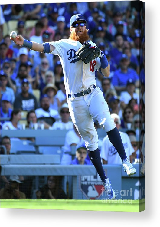 People Acrylic Print featuring the photograph National League Tiebreaker Game - by Jayne Kamin-oncea