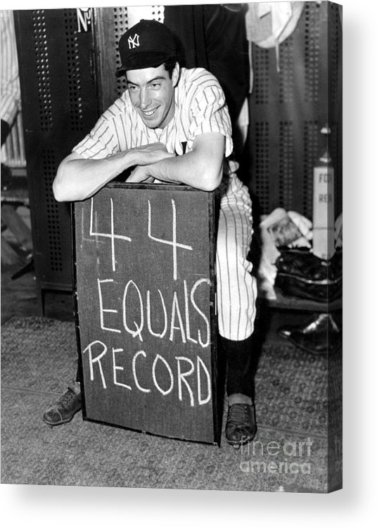 Locker Acrylic Print featuring the photograph Joe Dimaggio by National Baseball Hall Of Fame Library