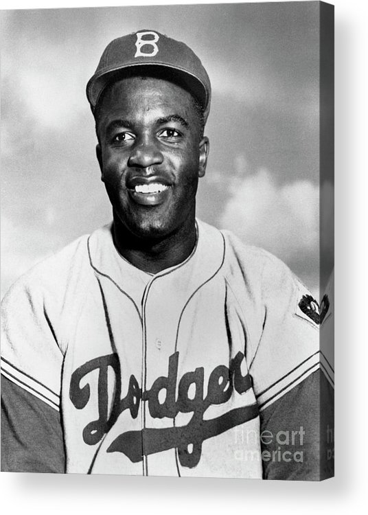People Acrylic Print featuring the photograph Jackie Robinson by National Baseball Hall Of Fame Library