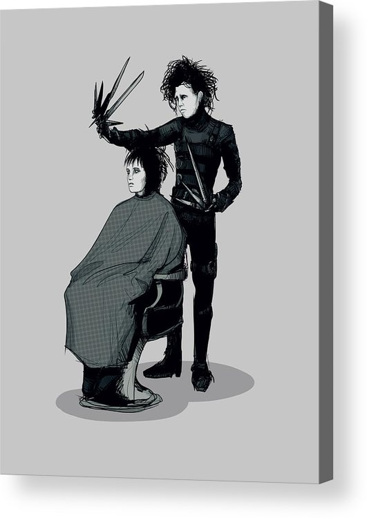 Beetle Acrylic Print featuring the drawing Lydias Cut by Ludwig Van Bacon