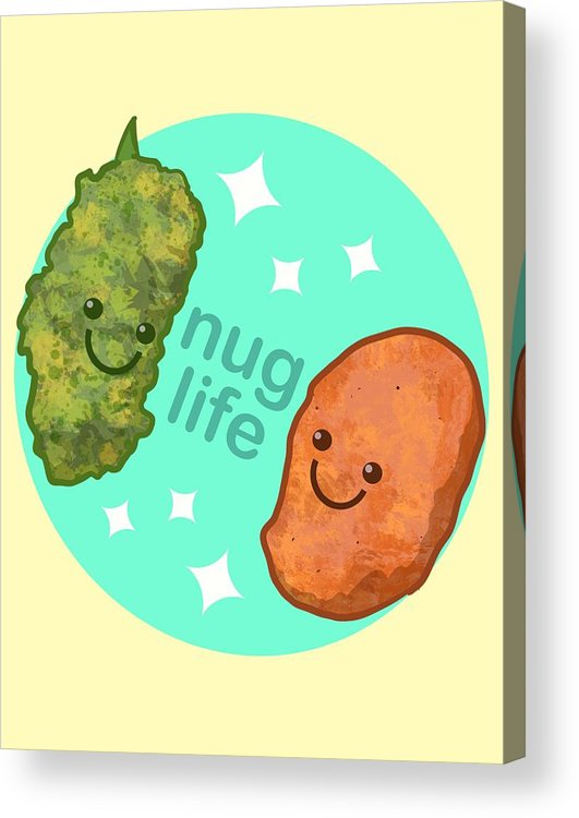 Wee Acrylic Print featuring the drawing Nug Life by Ludwig Van Bacon