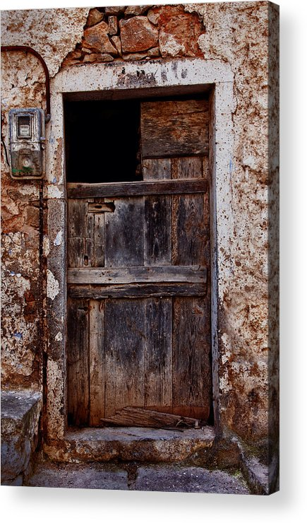 Old Acrylic Print featuring the photograph Traditional Door by Emmanouil Klimis