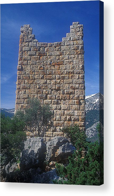 Aegosthena Fortress Acrylic Print featuring the photograph Southeast Tower by Andonis Katanos