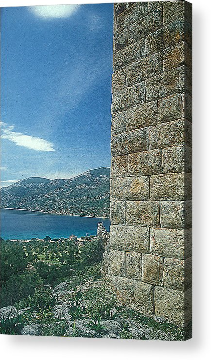 Phyle Fortress Acrylic Print featuring the photograph Aegosthena Fortress by Andonis Katanos