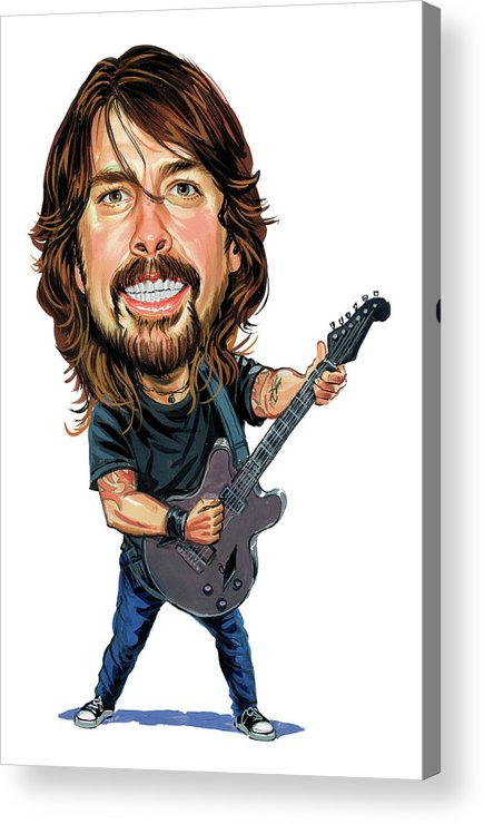 Dave Grohl Acrylic Print featuring the painting Dave Grohl by Art