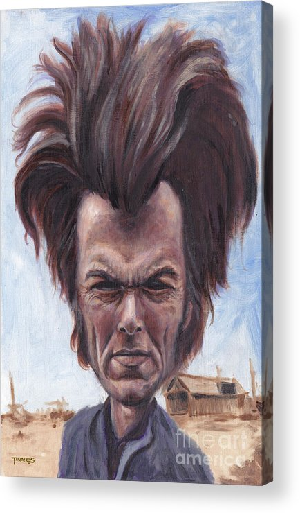 Clint Acrylic Print featuring the painting Dirty Hairy by Mark Tavares
