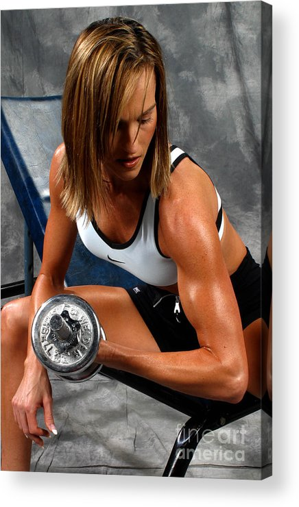 Model Acrylic Print featuring the photograph Fitness 28-2 by Gary Gingrich Galleries