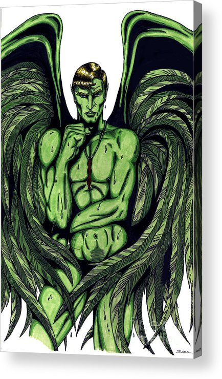 Anime Acrylic Print featuring the drawing Jayr White by Steven Lamm