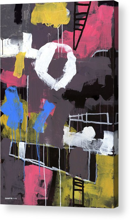 Abstract Acrylic Print featuring the painting Little Lulu At The Circus by Douglas Simonson