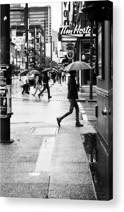 Street Photography Acrylic Print featuring the photograph Missed Coffee by The Artist Project