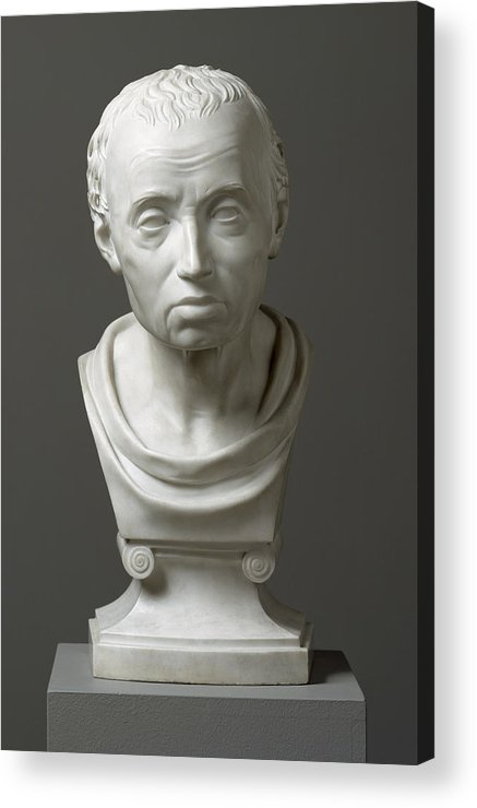 Immanuel; Male; Philosopher; Philosophy; Classical Style; Bust Acrylic Print featuring the sculpture Portrait Of Emmanuel Kant by Friedrich Hagemann