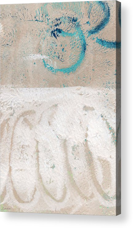 Abstract Acrylic Print featuring the painting Sandcastles- Abstract Painting by Linda Woods
