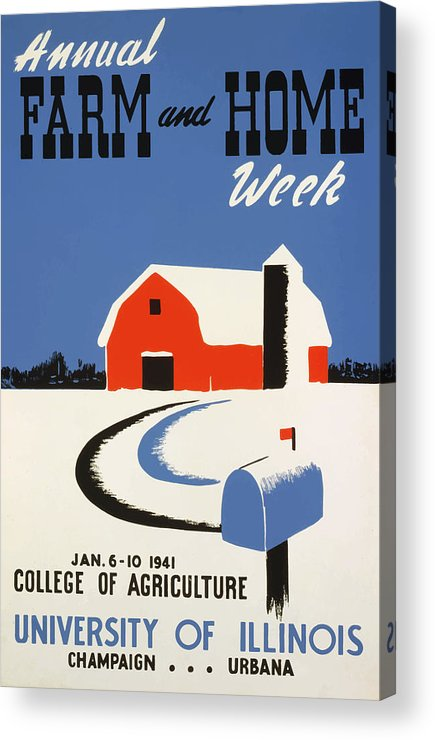 Vintage Acrylic Print featuring the painting University Of Illnois Farm And Home Week by American Classic Art