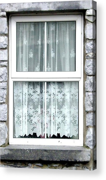 Irish Windows Acrylic Print featuring the photograph Lace Curtains by Kathleen Horner