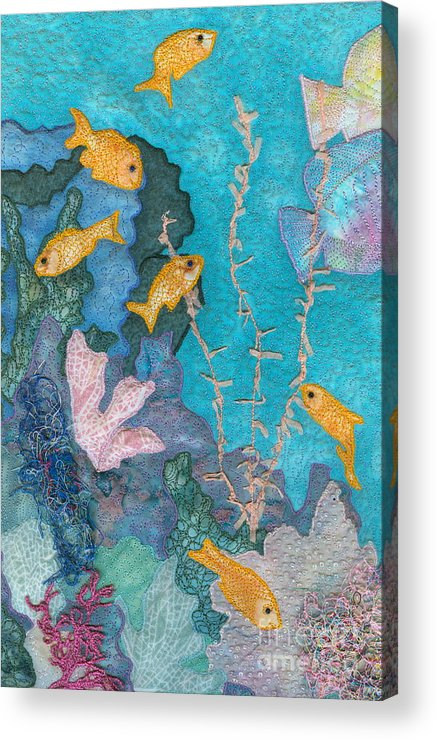 Underwater Art Acrylic Print featuring the tapestry - textile Underwater Splendor II by Denise Hoag