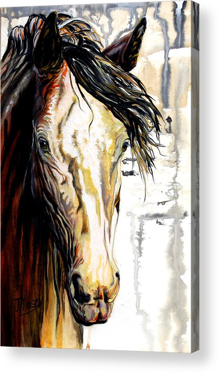 Acrylic Print featuring the painting Winter by Mike Kinsey