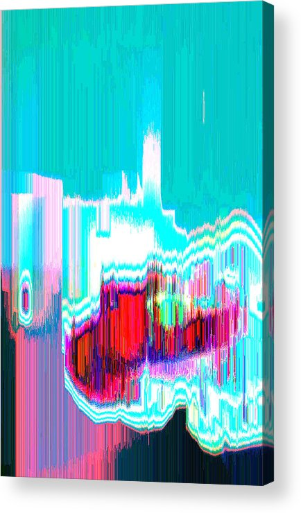 Abstract Acrylic Print featuring the digital art Astral1 by Lyle Crump