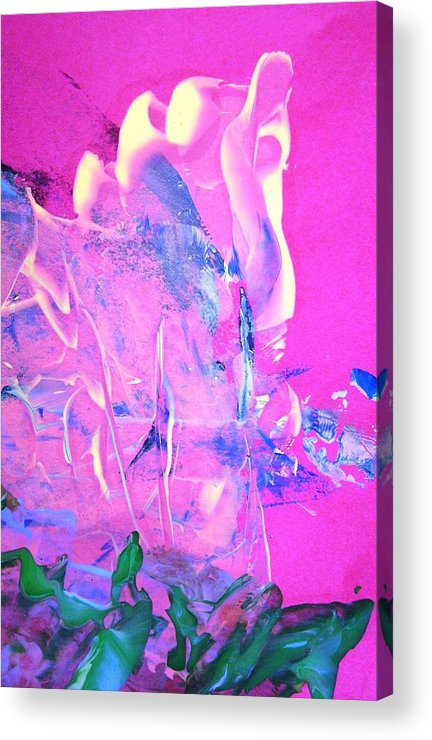 Magenta Acrylic Print featuring the painting As I Walked Out One Evening by Bruce Combs - REACH BEYOND