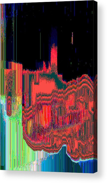 Abstract Acrylic Print featuring the digital art Astral2 by Lyle Crump