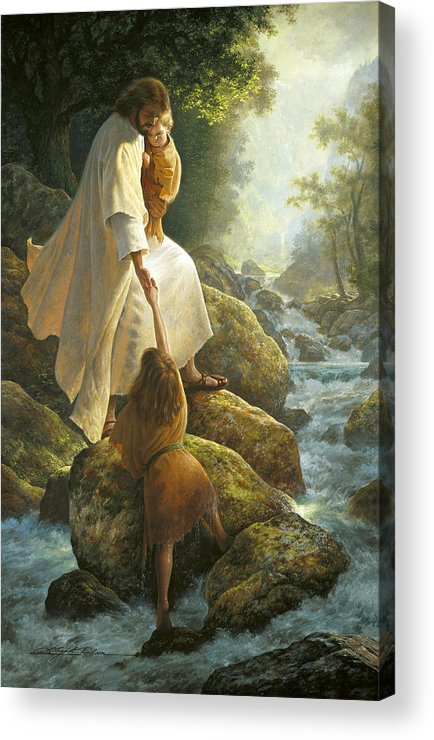 Jesus Acrylic Print featuring the painting Be Not Afraid by Greg Olsen
