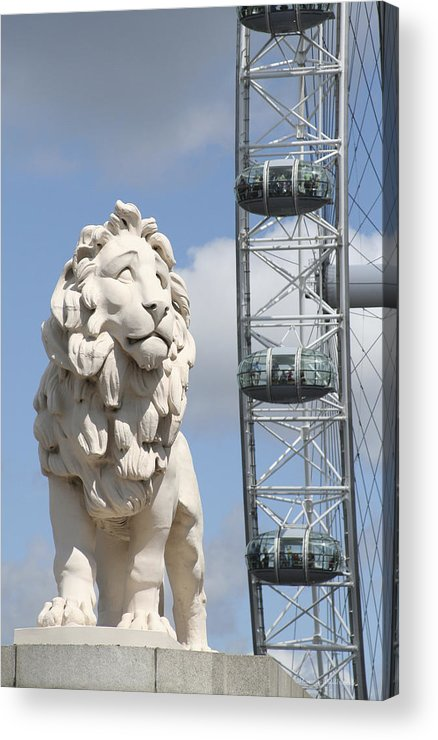 Lion Acrylic Print featuring the photograph Britannia Lion by Margie Wildblood