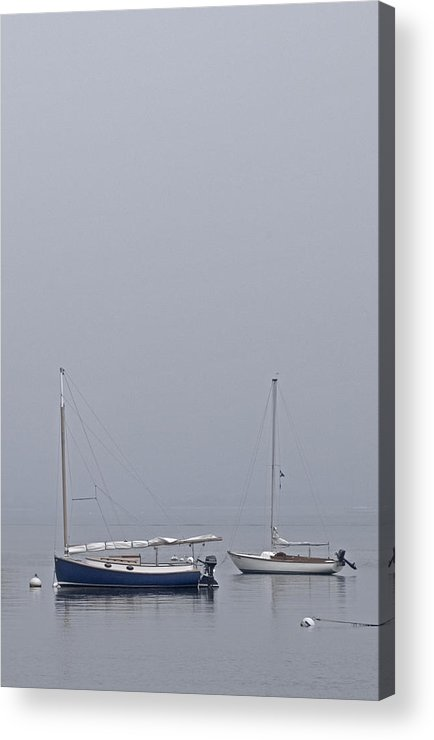 Boat Acrylic Print featuring the photograph Catboat And Sloop - Nantucket Harbor by Henry Krauzyk